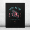 Trust No One Canvas - Pink/Teal