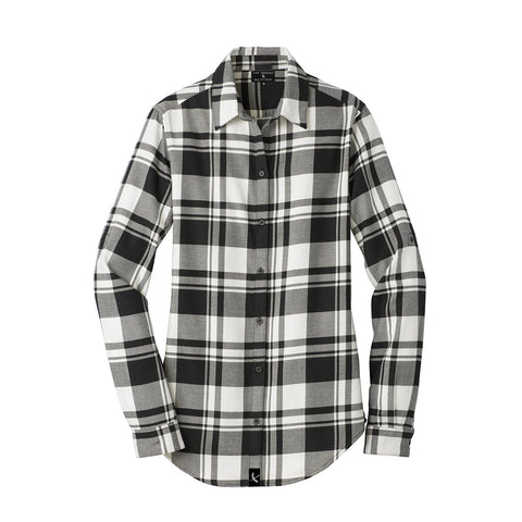 Ladies Imperial Flannel - Black / White