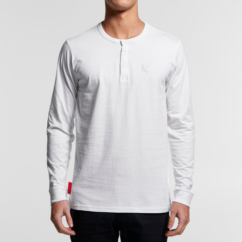 Imperial Henley L/S - White