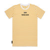 Hooligan Stripe Tee - Yellow / White