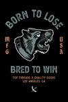 Bred To Win Sticker - Black/Grey