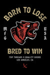 Bred To Win Sticker - Black/Red