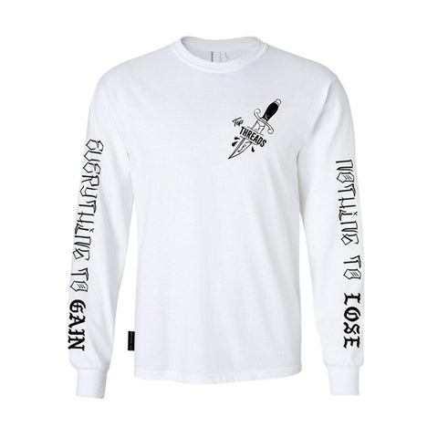 Dagger Long Sleeve- White
