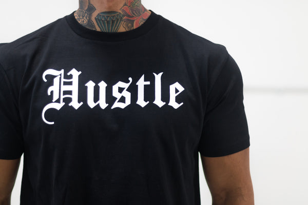 Hustle Tee Black / White