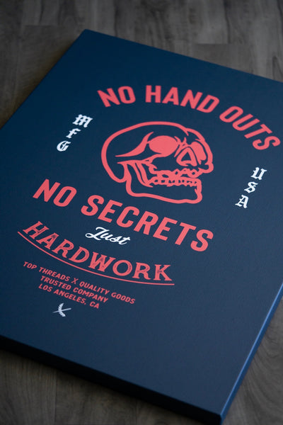 No Handouts Canvas - Navy