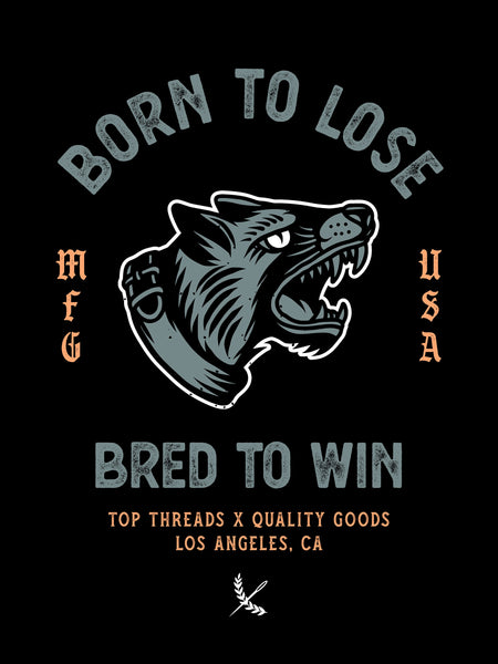 Bred To Win Poster - Black