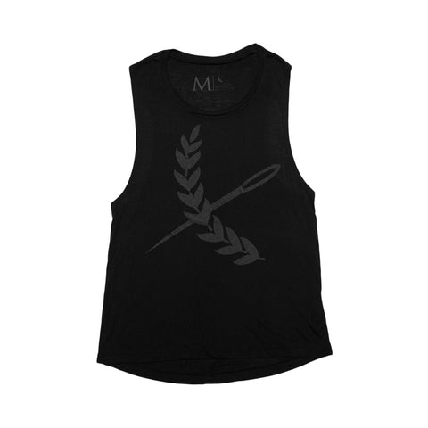 Oversized Imperial Cutoff Tank- Black