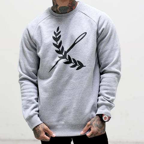 Logo Crew Neck- Athletic Heather