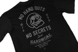 NO HAND OUTS TEE - BLACK/BLACK