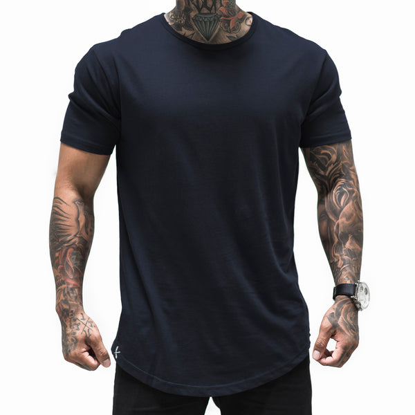 Imperial Scallop Tee- Navy