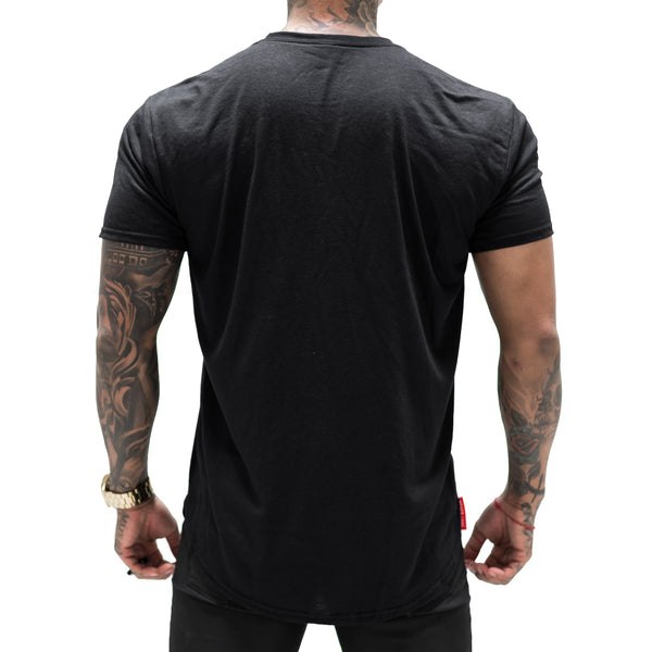 Tonal Scallop Tees - Black