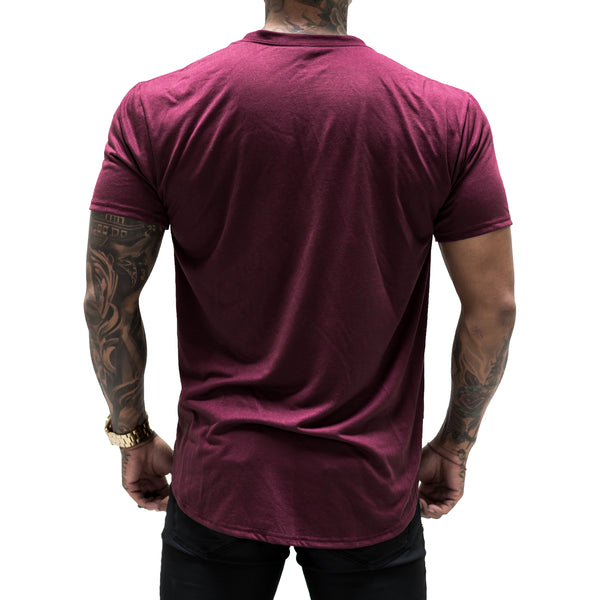 Tonal Scallop Tees - Berry