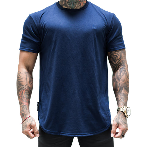 Tonal Scallop Tees - Navy
