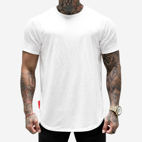 Tonal Scallop Tees - White