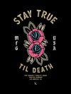 Stay True Poster - Black / Tan