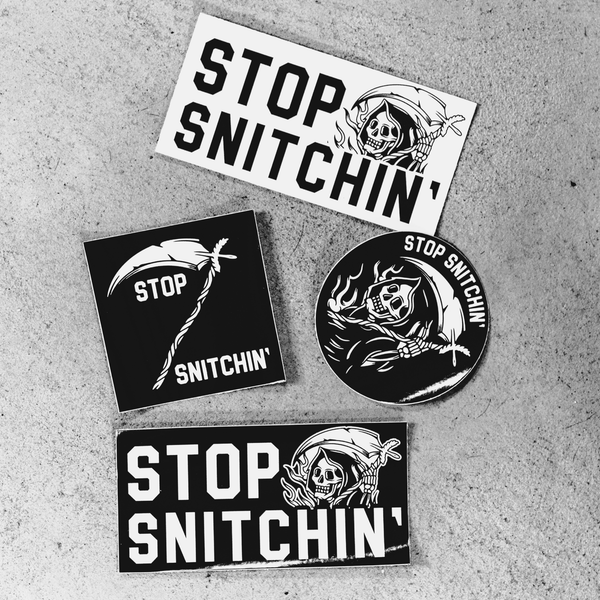 Stop Snitchin' Sticker pack