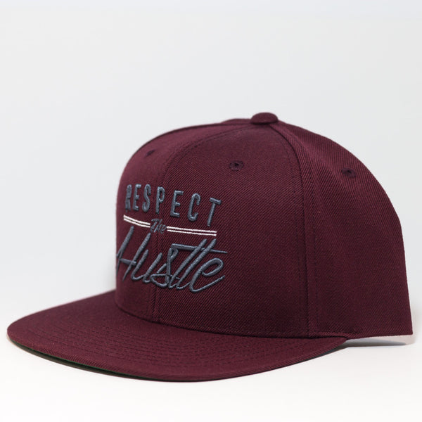 Respect The Hustle -Burgundy