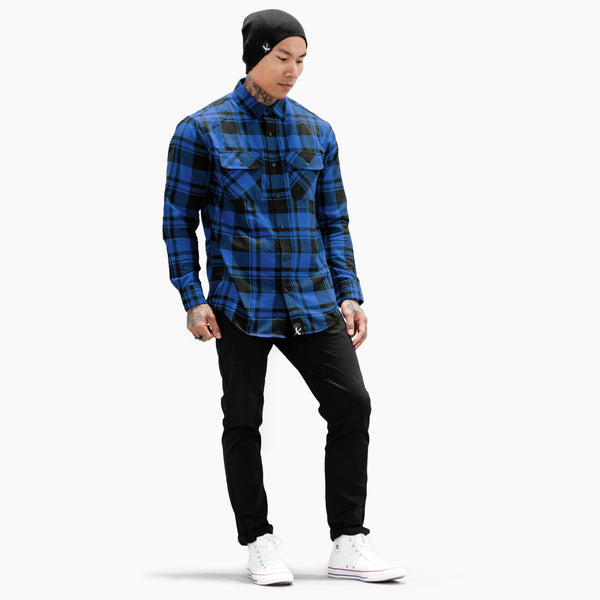 Imperial Flannel - Royal / Black