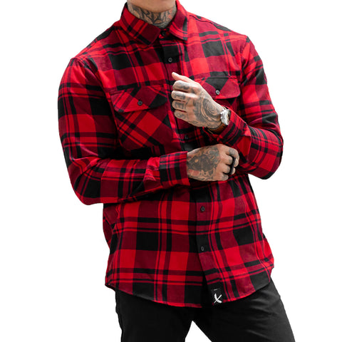 Imperial Flannel - Black / Red