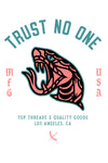 Trust No One Sticker - White