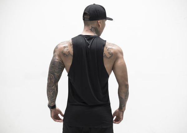 Reflective Seamless Tank- Black