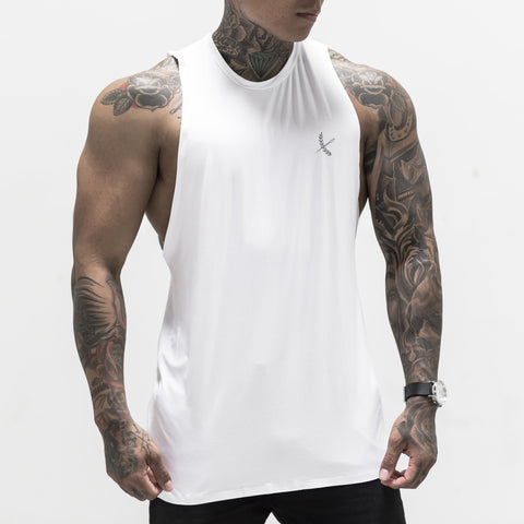 Reflective Seamless Tank- White