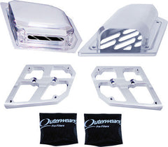 MODQUAD-SIDE AIR SCOOP COVERS (POLISHED) pn# RZR-SCOOP - planetrzr.com