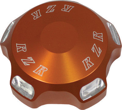 MODQUAD-GAS CAP W/ORANGE LOGO pn# RZR-GC-OR - planetrzr.com
