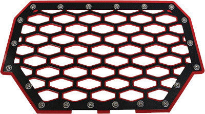 MODQUAD-2-PANEL FRONT GRILL (BLACK/RED) pn# RZR-FG2-RD - planetrzr.com