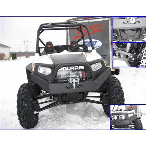 High Lifter-EMP Front Winch Bumper with Logo for Polaris RZR 800, RZR S, RZR 4, RZR 570 - planetrzr.com
