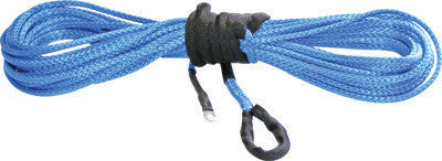 "KFI-SYNTHETIC WINCH CABLE BLUE 15/64""X38' pn# SYN23-B38 - planetrzr.com"