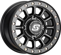 Sedona Sano Beadlock UTV Wheel Satin Black and Cast Machined 14in 15in