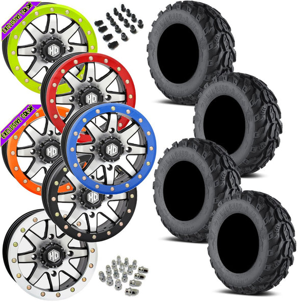 EFX Motogrip STI HD9 Machined Beadlock Tire Wheel Kit 28-9-14
