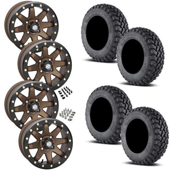 EFX Motohammer STI HD9 Bronze Beadlock Tire Wheel Kit 27-11-14