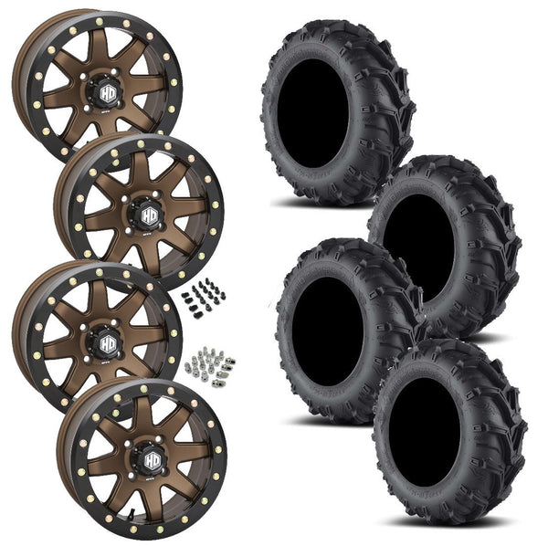 EFX Motomax STI HD9 Bronze Beadlock Tire Wheel Kit 27-12-14
