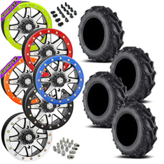 EFX Motomax STI HD9 Machined Beadlock Tire Wheel Kit 27-10-14