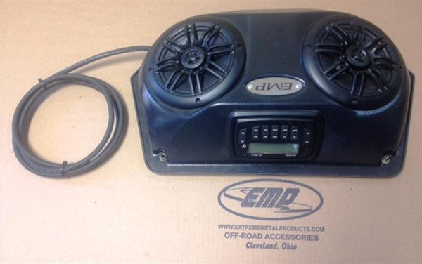 EXTREME METAL PRODUCTS-EMP Slim UTV Overhead Stereo Pods with stereo and wiring - planetrzr.com