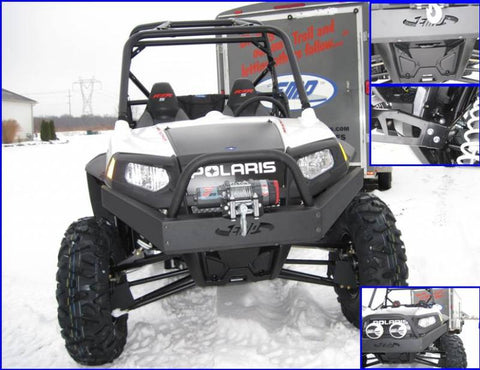 EXTREME METAL PRODUCTS-EMP RZR Extreme Front Bumper/Brush Guard with Winch Mount - planetrzr.com