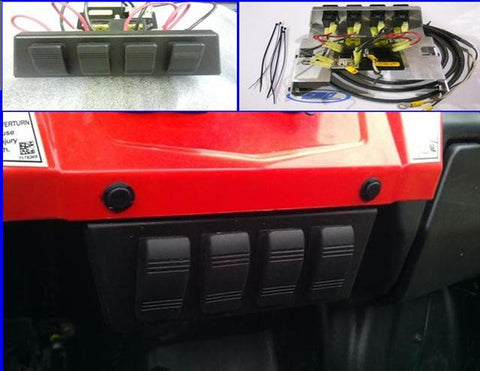 EXTREME METAL PRODUCTS-EMP RZR Fuse Block with Four Illuminated Rocker Switches - planetrzr.com