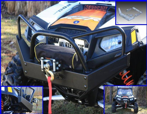 EXTREME METAL PRODUCTS-EMP RZR Outback Edition Front Bumper/Brush Guard with Winch Mount - planetrzr.com