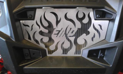 EXTREME METAL PRODUCTS-EMP RZR Radiator Grill - Flames - planetrzr.com