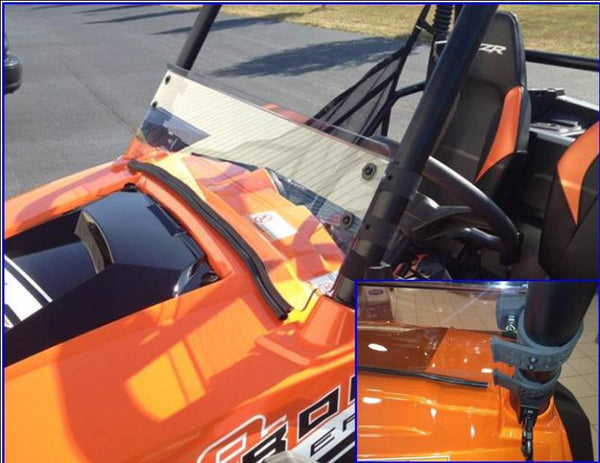 EXTREME METAL PRODUCTS-EMP RZR Half Windshield/Wind Deflector (Hard Coated-both sides) - planetrzr.com
