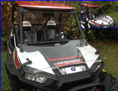 EXTREME METAL PRODUCTS-EMP RZR 1000 XP (RZR 1000 XP) and  RZR 900 XP Flip Down Hard Coat Windshield - planetrzr.com