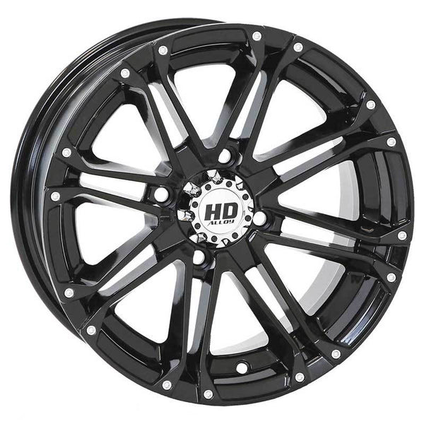 STI-HD3 – Gloss Black and Black/Machined UTV Wheel Choose options