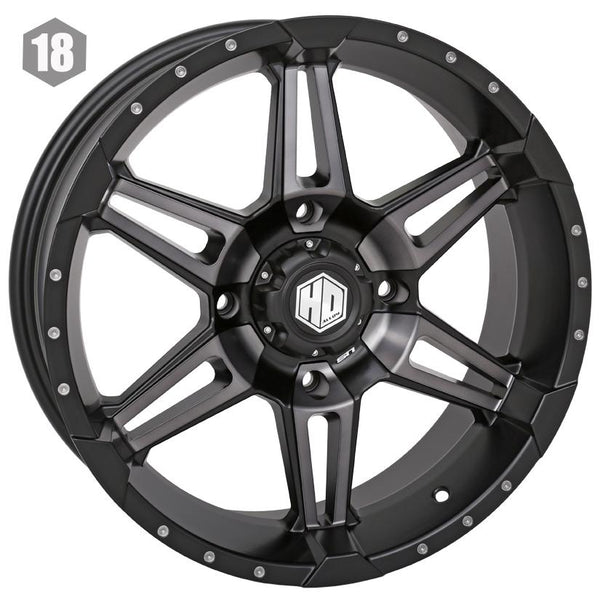 STI-HD7 18x7 or 14x7 Wheel Matte Black and Smoke