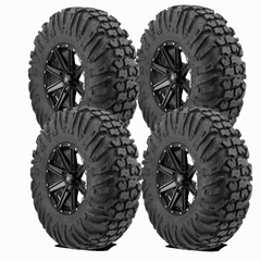 EFX MotoVator 30-9.5-15 on MSA M33 Clutch Satin Black 15x7