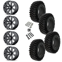 "MSA Black Kore 14"" Wheels 32"" Crawler XG Tires"