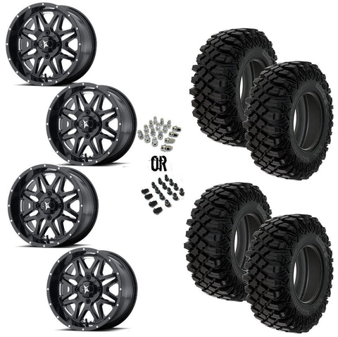 "MSA Black Vibe 14"" Wheels 30"" Crawler XG Tires"