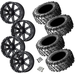 Maxxis Carnivore 28-10-14 on MSA M33 Clutch Satin Black 14x7