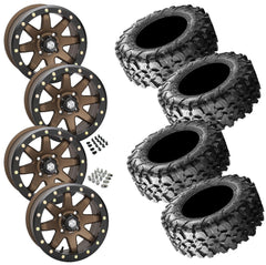 Maxxis Carnivore STI HD9 Bronze Beadlock Tire Wheel Kit 28-10-14